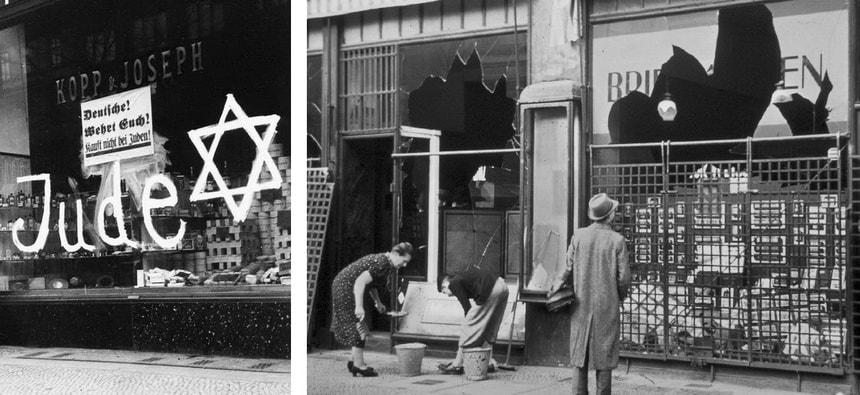 Еврейские погромы Хрустальной ночи