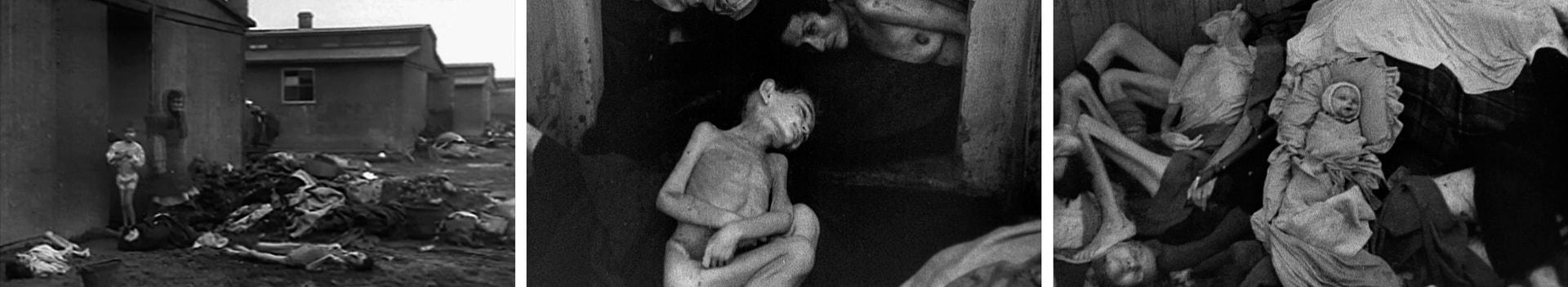Кадры Холокоста евреев в лагерях смерти
