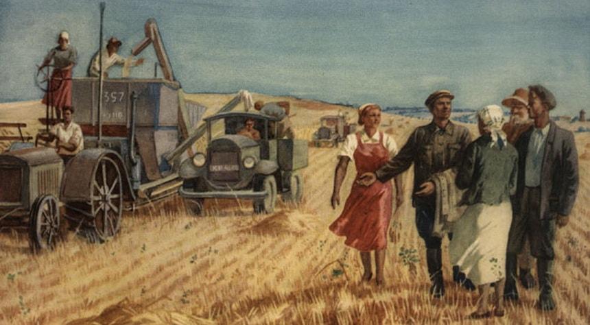 Карикатура коллективизации в СССР - Бабий яр