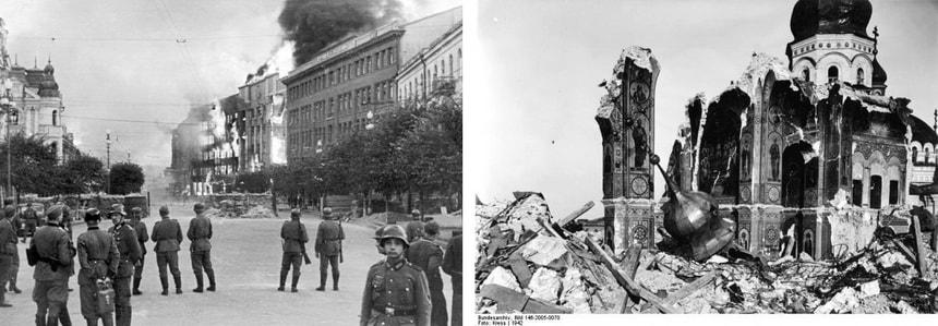 Поджог Крещатика и Лавры в Киеве 24 сентября 1941 г.