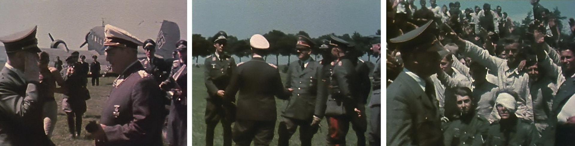 Цветная хроника, снятая пилотом Гансом Бауром