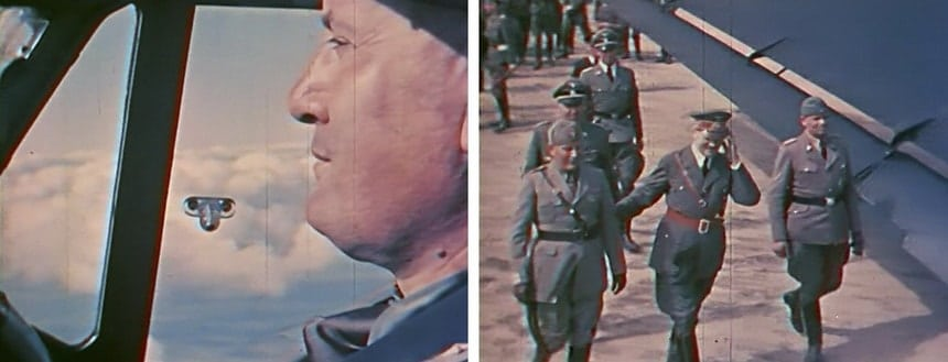 Личный пилот ГГитлера Баур снимает Третий рейх