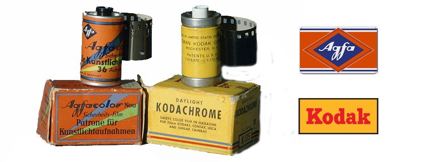 Первая цветная пленка Agfacolor и Kodachrome