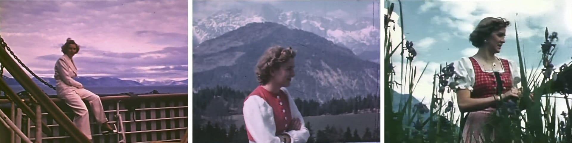 Цветная кадры Евы Браун 1930-е