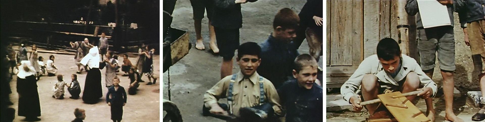 Цыганские дети в нацистском лагере
