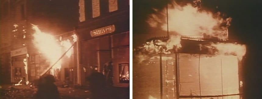 Последствия бомбардировок Лондона в цвете