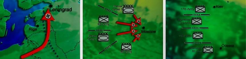 Три группы армий Германии 1941 года