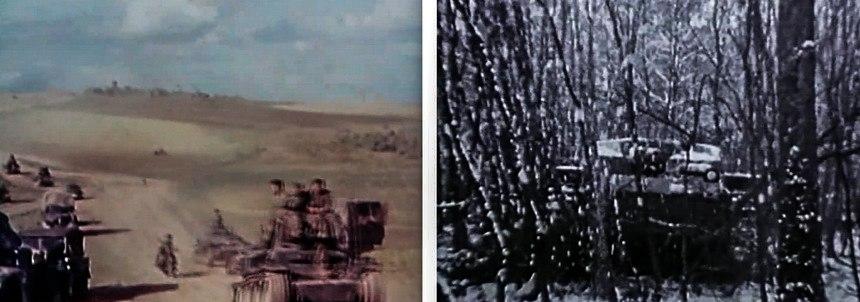 Черно-белые и цветные кадры войны на Востоке