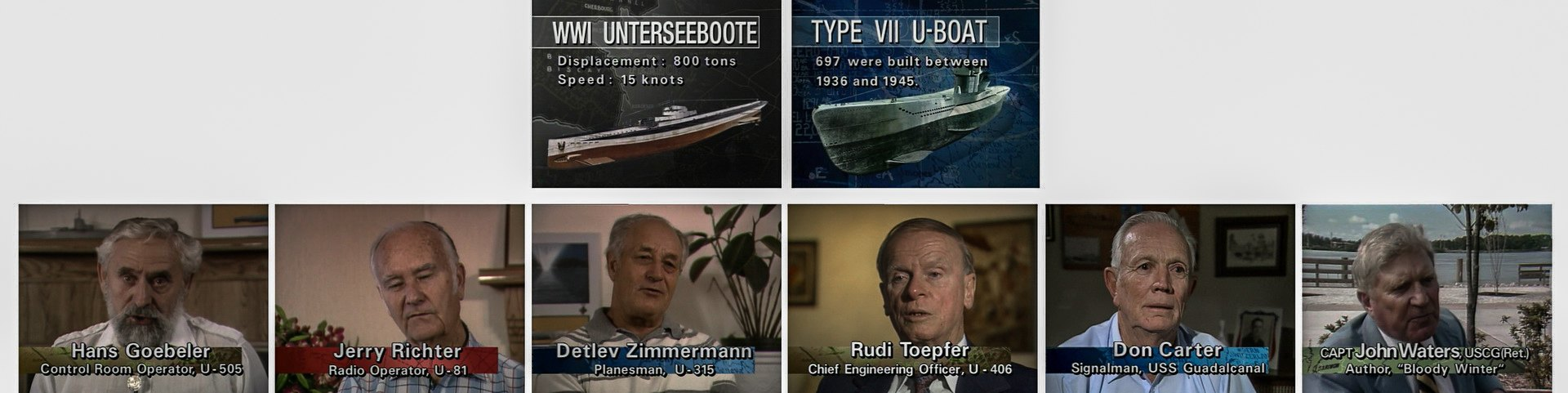 Немецкие подводники Кригсмарине