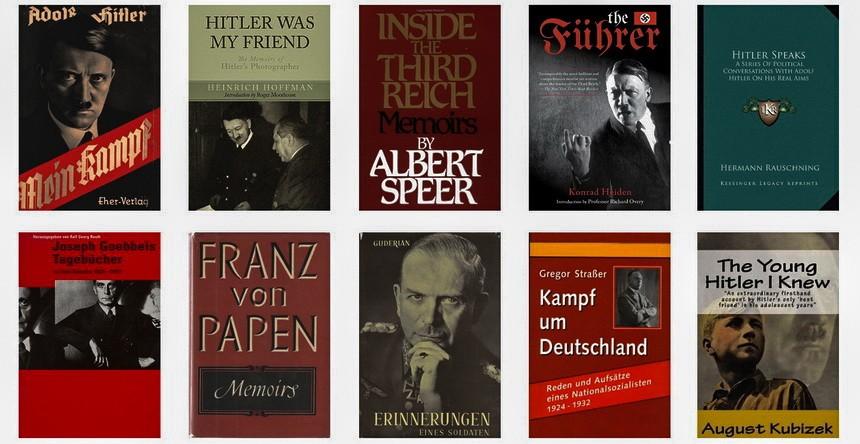 Основные источники труда Феста, Hitler. Eine Biographie