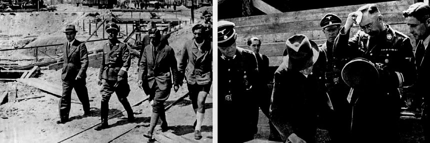 Генрих Гиммлер инспектирует лагерь смерти Освенцим