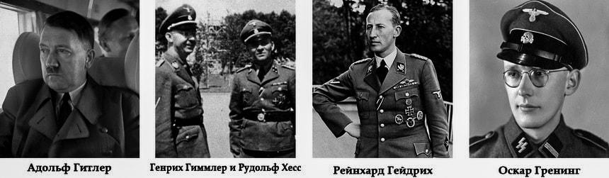 Немецкие действующие лица Холокоста евреев Аушвиц