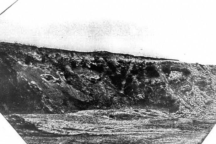 Место, где в 1943 году сжигали тела убитых