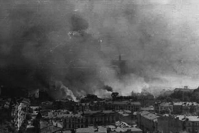 Панорама горящего Киева. Сентябрь 1941 г.