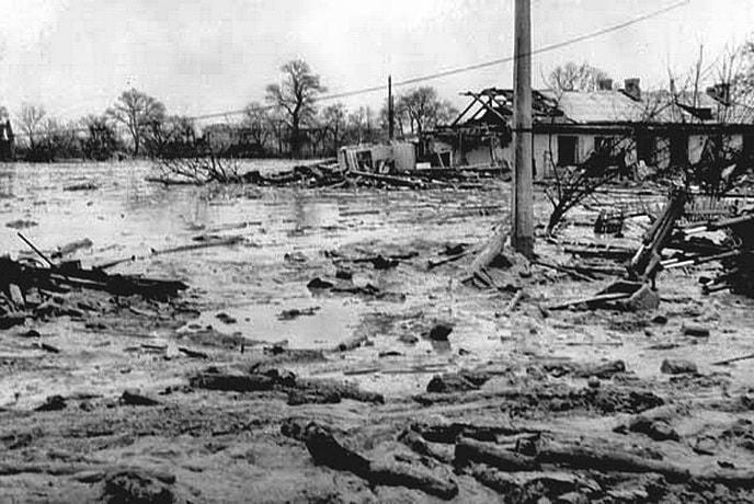 Потоп на улицах города Киев 1961 г.