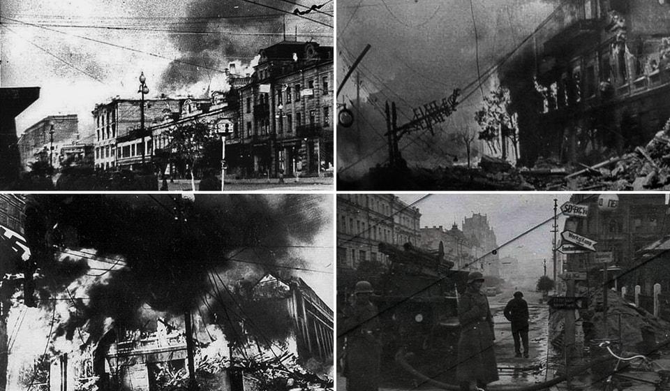 Взрывы бомб на Крещатике 1941 года