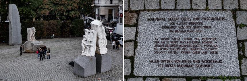Monument against Fascism unveiled in 1988