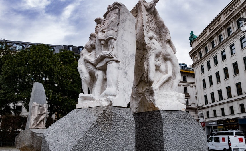 Gates of Ciolence or Gates of war in Vienna monument against fascism