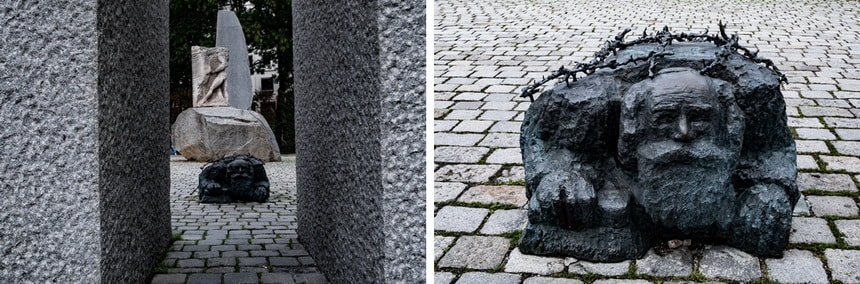 Монумент пожилому еврею, метущему улицы Вены