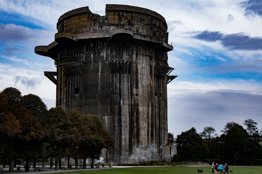 Gun Flak tower in Augarten Vienna Luftwaffe