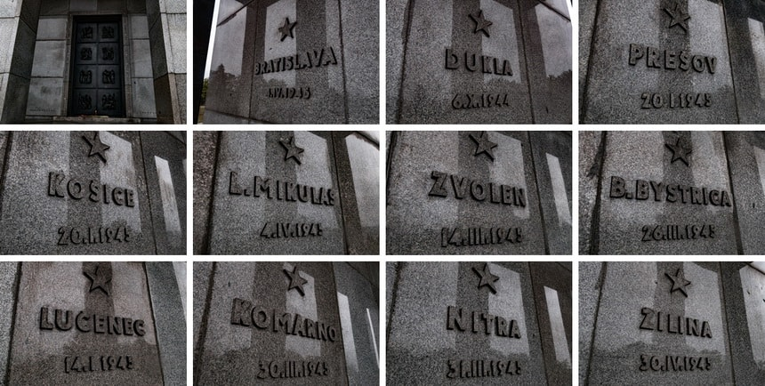 Liberation of Slovakia in 1944-1944 plates