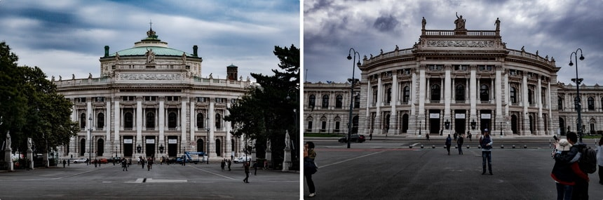 Burgtheater theater in Vienna and Adolf Hitler