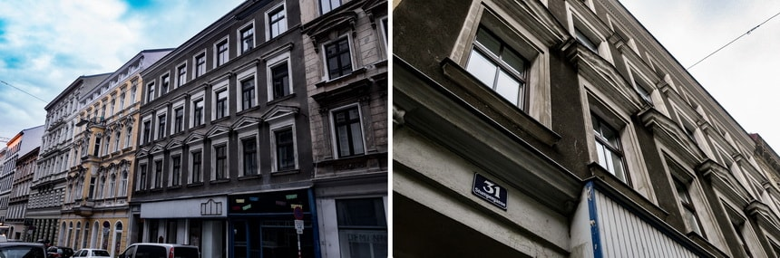 Adolf Hitler house in Vienna. Stumpergasse 31
