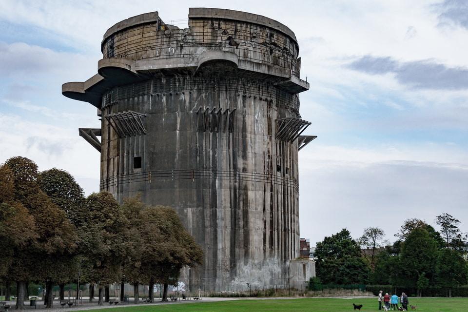 Augarten park Vienna flak tower