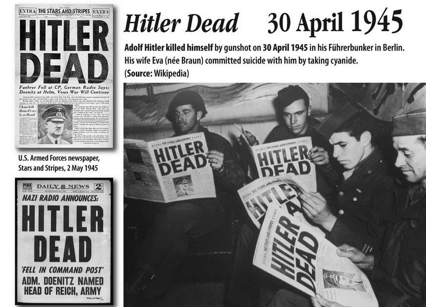 Periodic inside Hitler's bunker. Hitler's last days