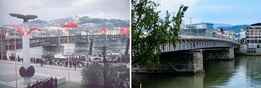 Nibelungbrucke bridge in Linz