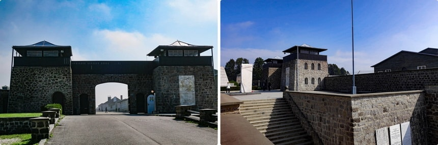 MAIN GATE (Lagertor). Mauthausen liberation