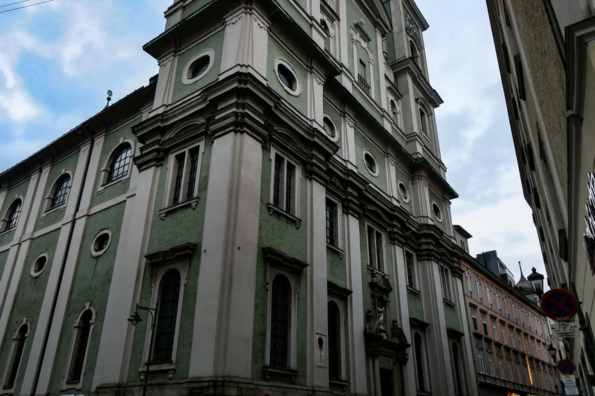 Old Cathedral of Linz. Hitler's confirmation
