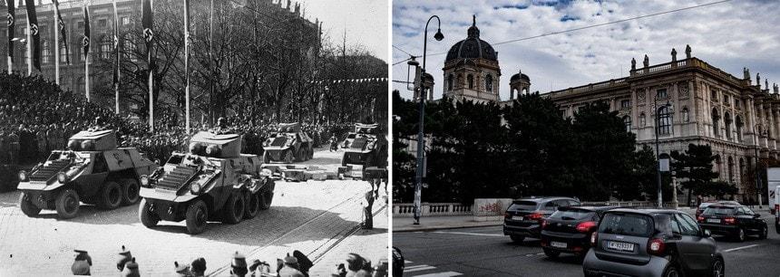 Военные парады в Вене Аншлюс Третьим рейхом