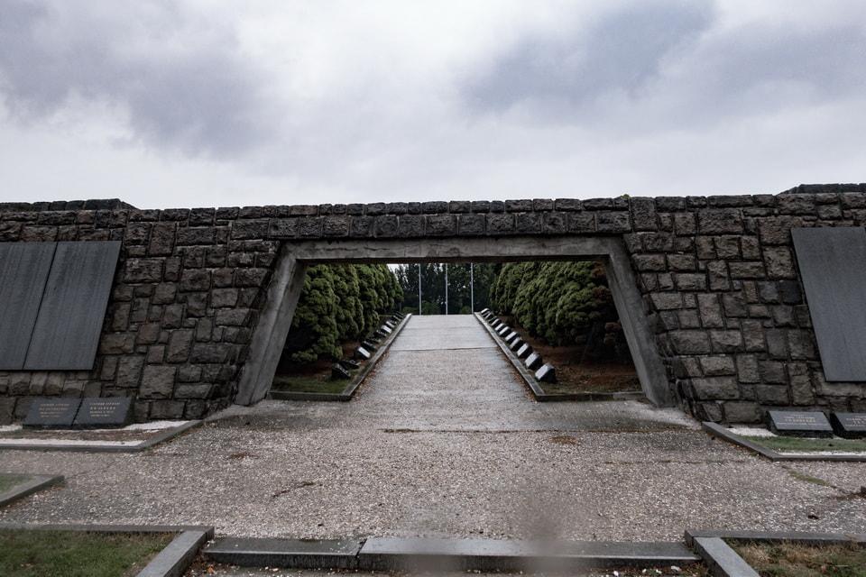 Cemetery at Slavin complex