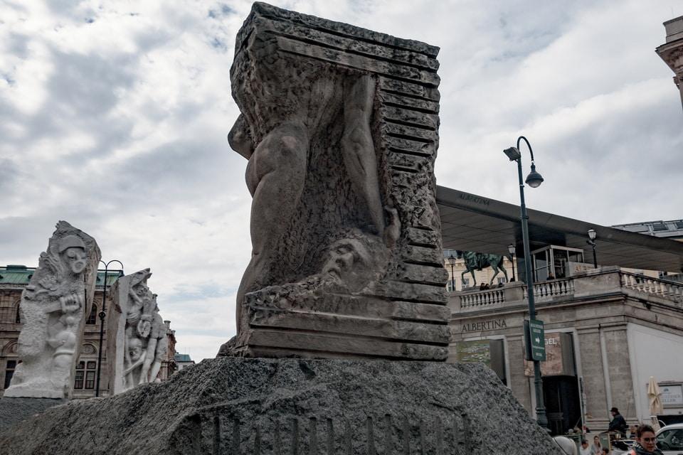 Orpheus Statue VIenna momument against fascism