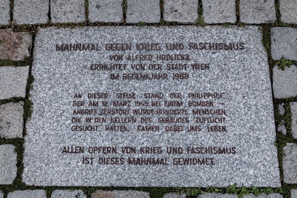 Vienna momument against fascism