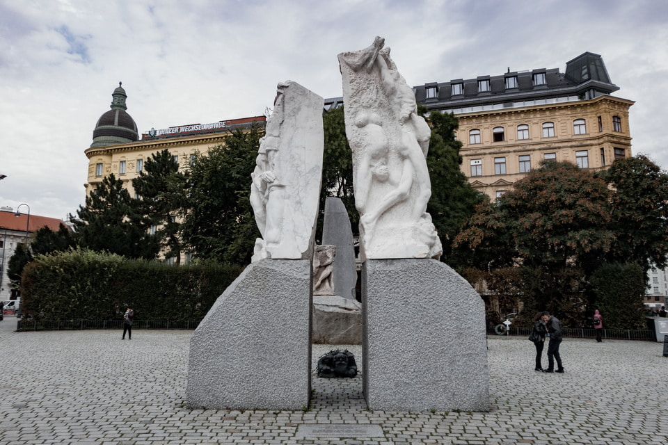 The Monument against Fascism in the center of Vienna