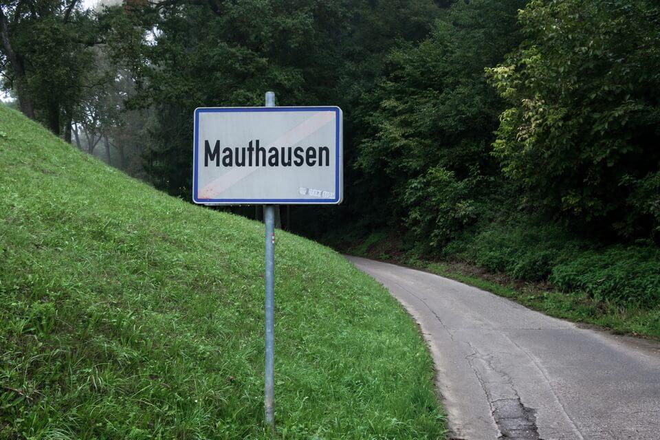 A road to KZ-Gedenkstätte Mauthausen