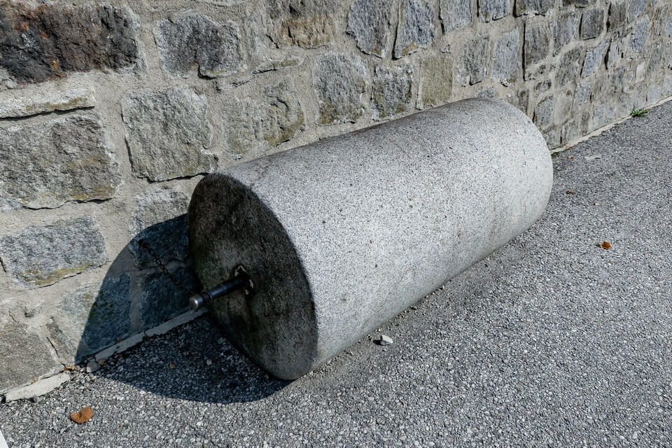 a huge stone roll at Mauthausen