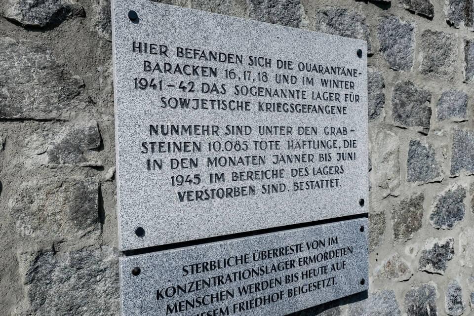 A memorial plaque WW2