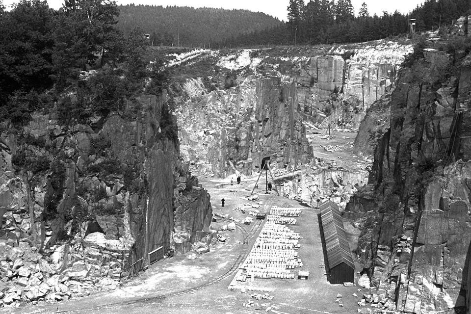 Granite quarry in Mauthausen