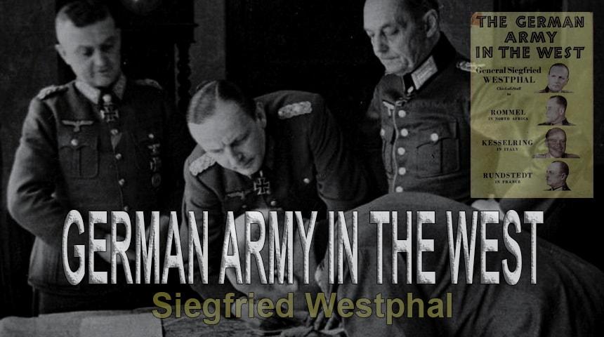 Зигфрид Вестфаль. Германская армия на Западном фронте
