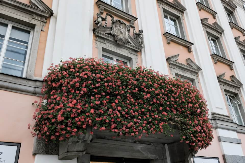 Linz, the balcony of the City Hall