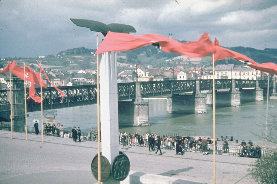 Nibelungbrucke bridge in Linz, Third Reich and Anschluss