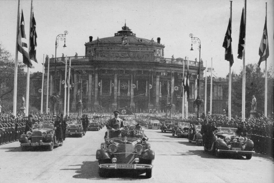 Hitler in Vienna Anschluss Burgtheater