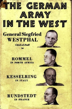 Зигфрид Вестфаль германская армия на западе