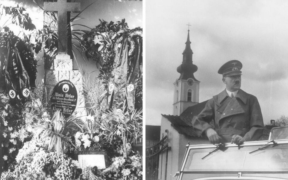 Adolf Hitler in Leonding 1938