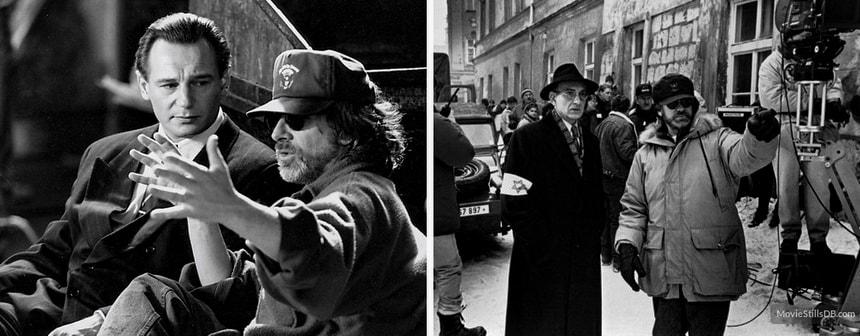 Стивен Спилберг на съемках фильма Список Шиндлера 1993