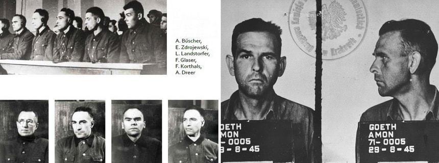 Расследование преступлений. Суды над военными преступниками