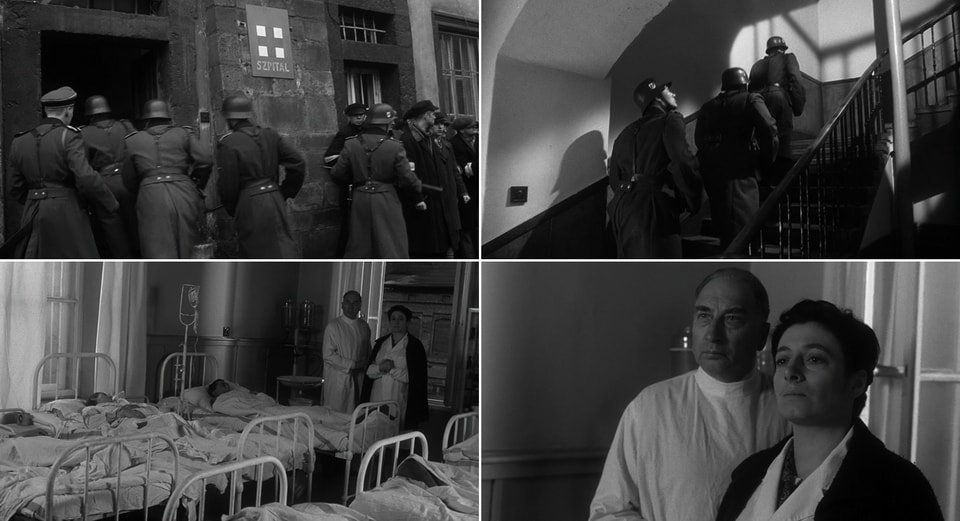 Ghetto hospital. Schindler's list scene